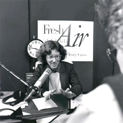 Terry Gross (born February 14, 1951)  A stellar interviewer....The absolute best!!!