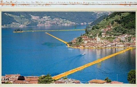 Christo sul Lago d'Iseo, nuovi dettagli. 3 chilometri di passerelle sostenute da cubi galleggianti. E a Brescia ci sarà la mostra dei bozzetti