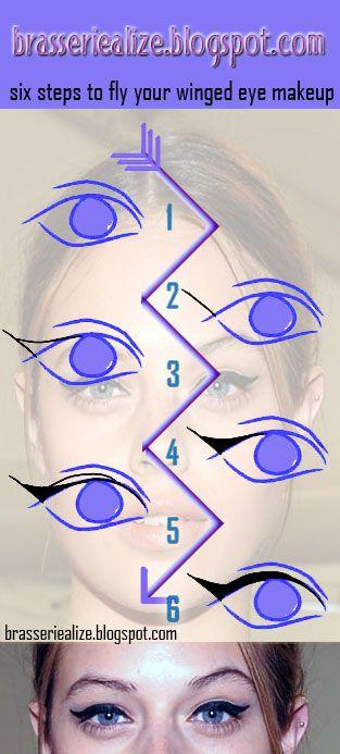 Eye Makeup: fly your winged eye makeup away high