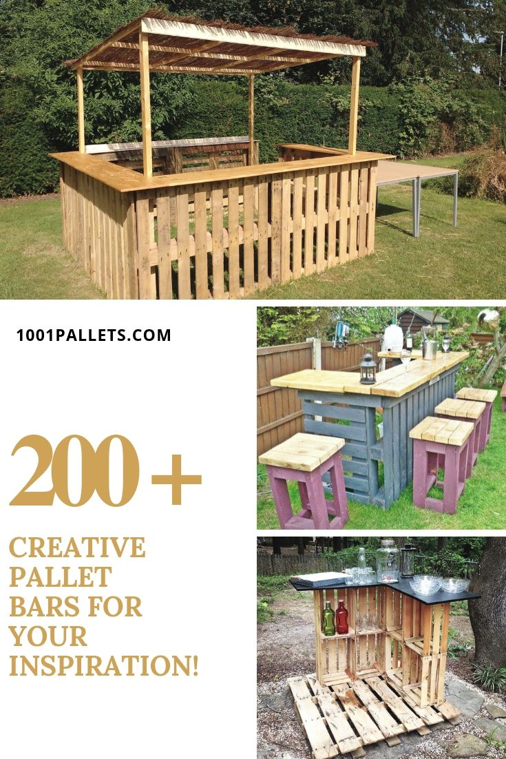 Pin By 1001 Pallets On Pallets Garden Patio Pallet Bar