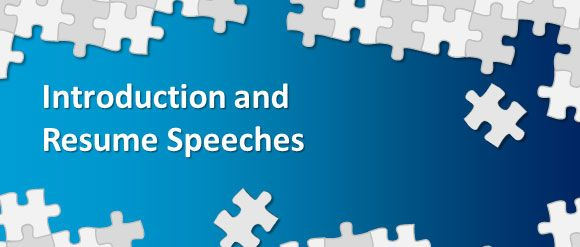 New Methods of Introduction and Resume Speeches Job Interview - introduction speech example