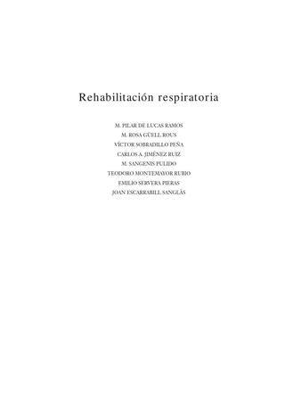 Rehabilitación Respiratoria  fisio respiratoria EPOC