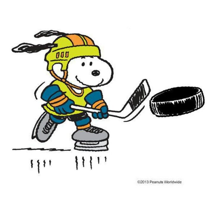 Snoopy the hockey player