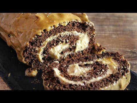 Φανταστικό Ρολό Σοκολάτας - Chocolate Peanut Butter Swiss Roll - YouTube