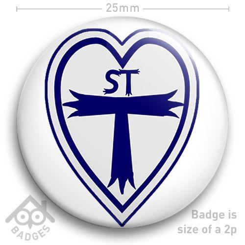 """St Trinians Logo Schoolgirl School Girl FANCY DRESS School Disco 25mm 1"""" Badge"""