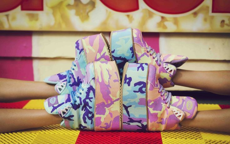 HTL x Print All Over Me x Buffalo shoes !!! <3 <3 <3