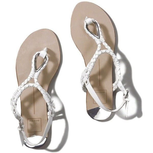 Abercrombie & Fitch Dolce Vita Dixin Sandals found on Polyvore featuring shoes, sandals, flat sandals, flats, ankle tie sandals, slip on flats, flat pumps and ankle wrap sandals