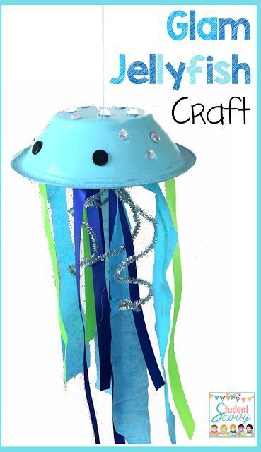 End of the Year Art. Make an adorable jellyfish craft with simple materials.