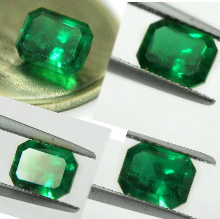 Christmas 1.47 Ct Natural Green Zambia Emerald Certified ,18k gold diamond ring
