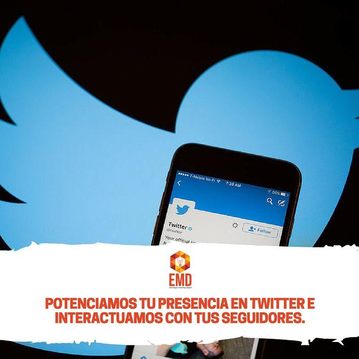 Deja tu presencia en Twitter en nuestras manos, somos profesionales! #EMD #MarketingDigital #SocialMedia