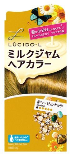 Mandom Lucido-L Creamy Milk Hair Color - Hazelnut -- Click on the image for additional details.