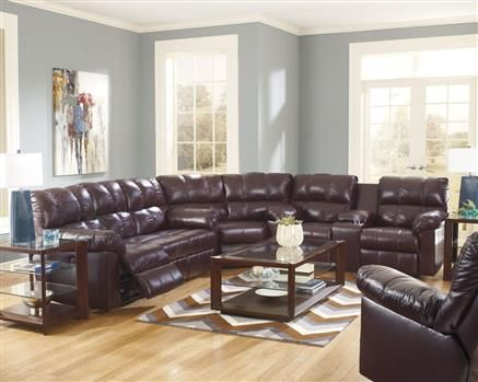 Kennard - Burgundy Fabrics Sectional : exhilaration sectional - Sectionals, Sofas & Couches