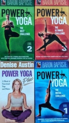 Power Yoga VHS Lot of (3) Baron Baptiste plus (1) Denise Austin $12.99 See Now on EBAY!