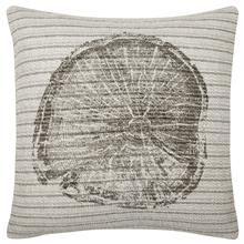 "Algis Wood Print Decorative Pillow 19"" X 19"""
