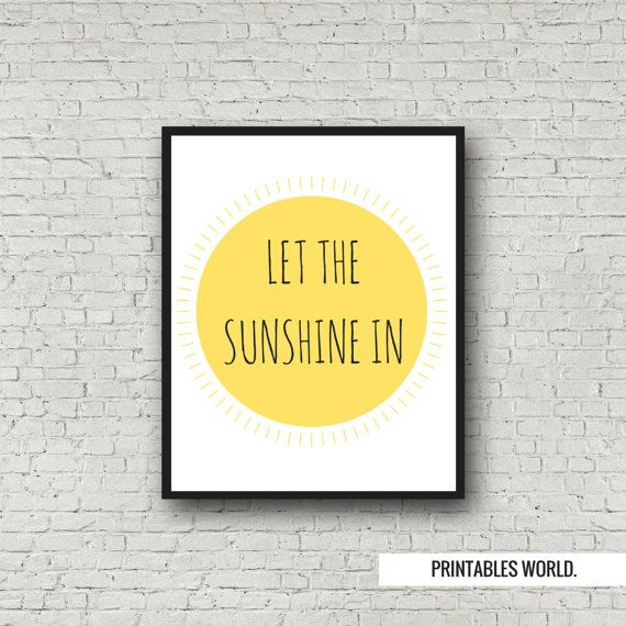 Let the sunshine in Printable Poster Instant by PrintablesWorld