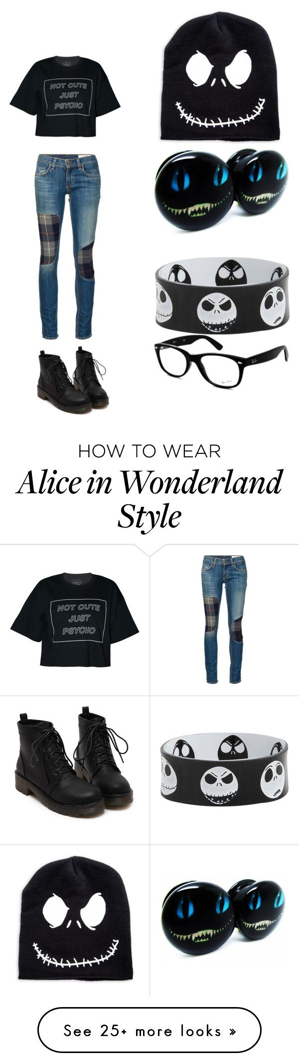 Disney Hallowee by pigsrock868 on Polyvore featuring rag bone/JEAN and Ray-Ban