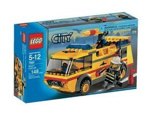 LEGO City AirPort Fire Truck by LEGO. $104.59. Side doors open for equipment storage; fire hose extends from truck. Set includes firefighter mini figure, truck, and accessories. Put on your smoke helmet, grab your special firefighting tools, and zoom to the rescue. Detailed assembly instructions. Amazon.com                With the City Airport Fire Truck, kids can keep their pretend airport passengers safe from dangerous accidents. As a part of Lego's City line, which le...