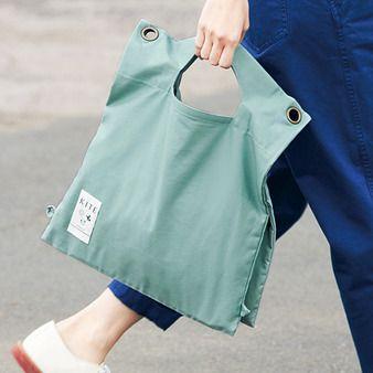 HAND BAG ひもなしでレコードバッグみたいに。手ざわりのいい、こだわりのコットン生地。