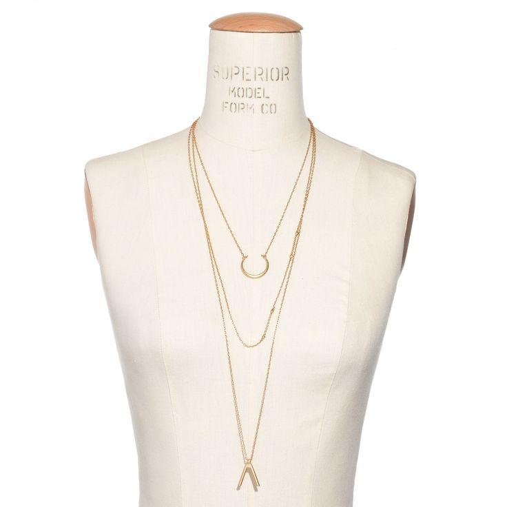 Halfmoon Layering Necklace