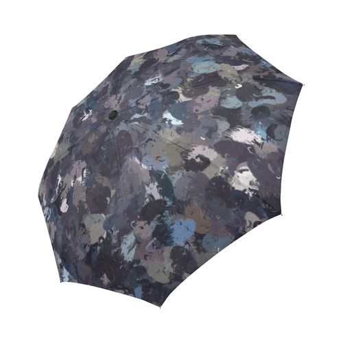 Shades of Purple Beads 9162 Auto-Foldable Umbrella