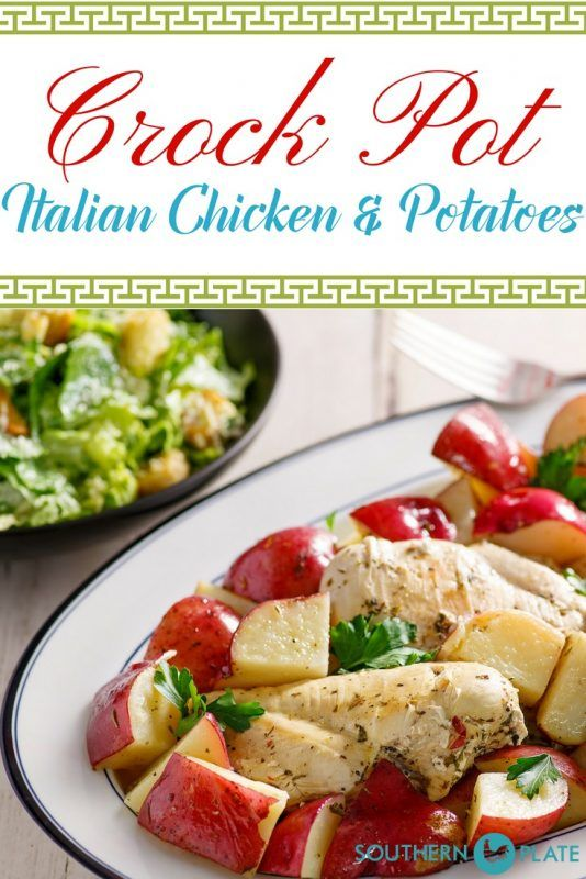 Italian Chicken and Potatoes - A simple crock pot meal!