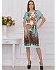 Платье Katerina Bleska&Tamara Savin. Цвет бирюзовый, коричневый, фиолетовый, коралловый, горчичный. Вид 1.