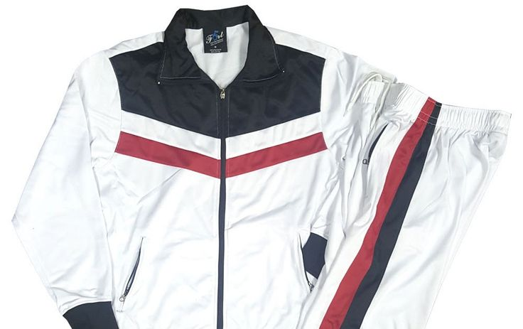 Men Jogging Suit Track Suit Gym Suit Sports Suit White Black M L XL 2XL 3XL 4XL