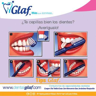 ¿Te cepillas bien los dientes? Recuerda que debes enjuagarte mínimo 3 veces después de lavarte para eliminar las bacterias que removiste. #enmarcatusonrisa #Tips #Glaf #dentista #df #familia #sonrisa #niños