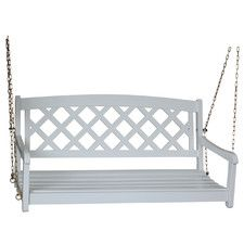 White Porch Swings You'll Love | Wayfair
