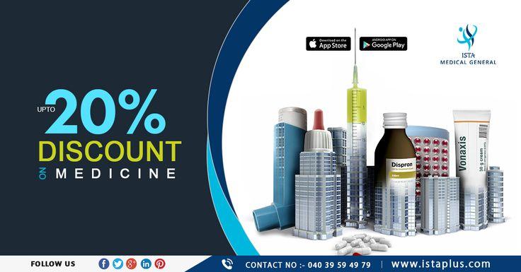 #Upto #20% #discount on #Medicine #ISTA #Medical #General www.istaplus.com