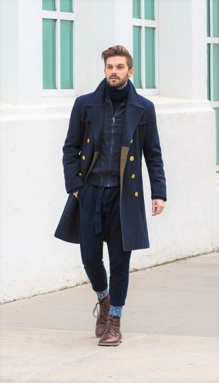 Men's layered winter outfit ideas