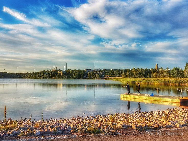 Fishing on Helsinki lake