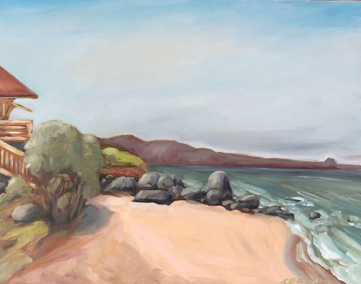 The Point, Ho'okipa Beach Park. CGanginiArt. Maui oil painting