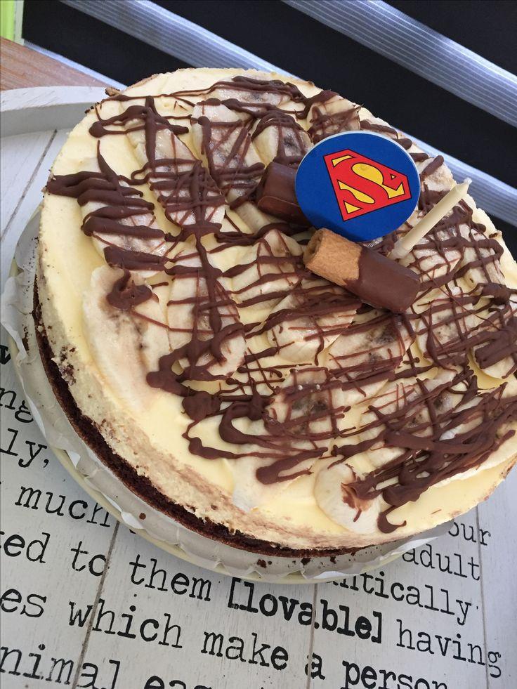Chocolate banana vla taart