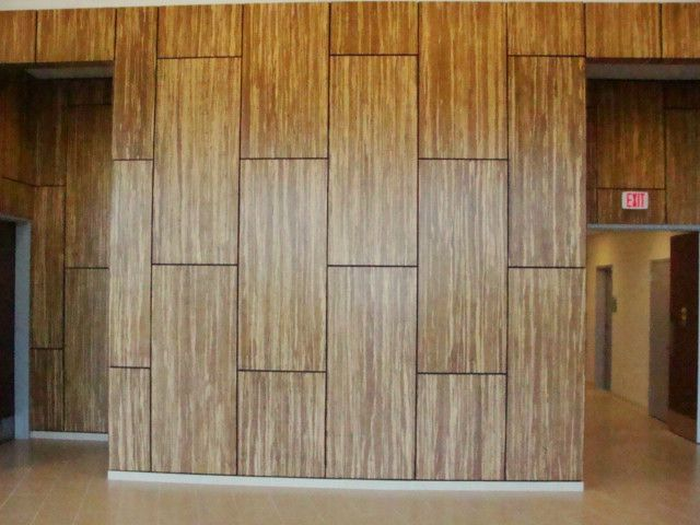 well for veneer area modern artistic bamboo wall panels design ideas