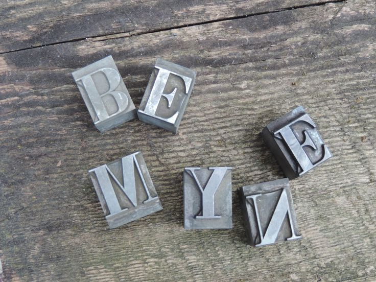 Vintage Metal Letters  Industrial Letter Press Metal Typeface Block Letters Variety of  Letters Available Please Select