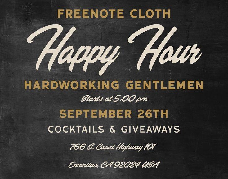 Kommen Sie diesen Donnerstag zu uns und verbringen Sie eine schöne Zeit mit unseren Freunden Freenote Cloth. . . . . …   – USA