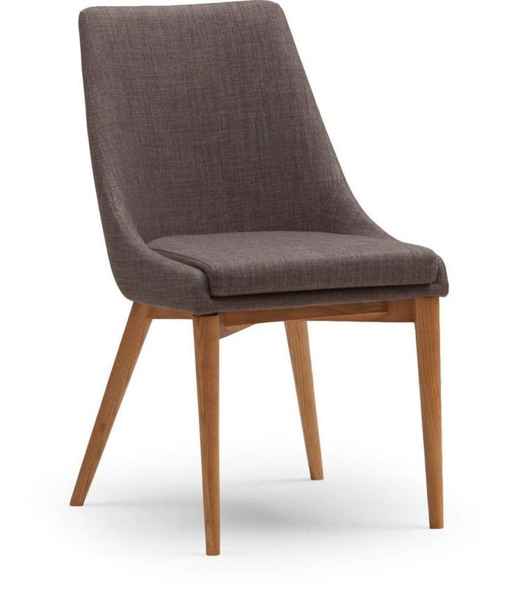 Soho helklädd stol i tyg med ben i ekbets - Möbelmästarna Trollhättan