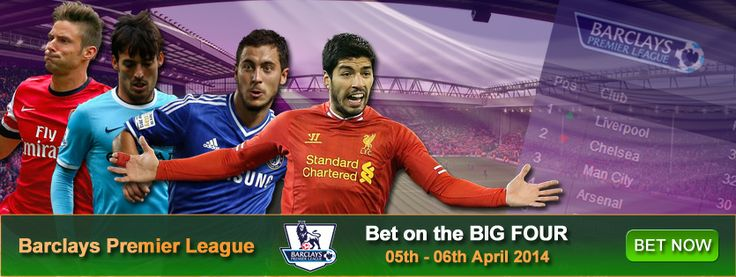 http://www.rajahsport.com/bet-big-four-weekend/ The Barclays Premier League is coming down to the last crucial games of the season and the title race is still open. So how about some Big Four Betting!  Liverpool to win @ 1.40 Chelsea to win @ 1.30 Man City to win @ 1.36 Arsenal to win @ 2.86 Combined multiple odds value of 7.08