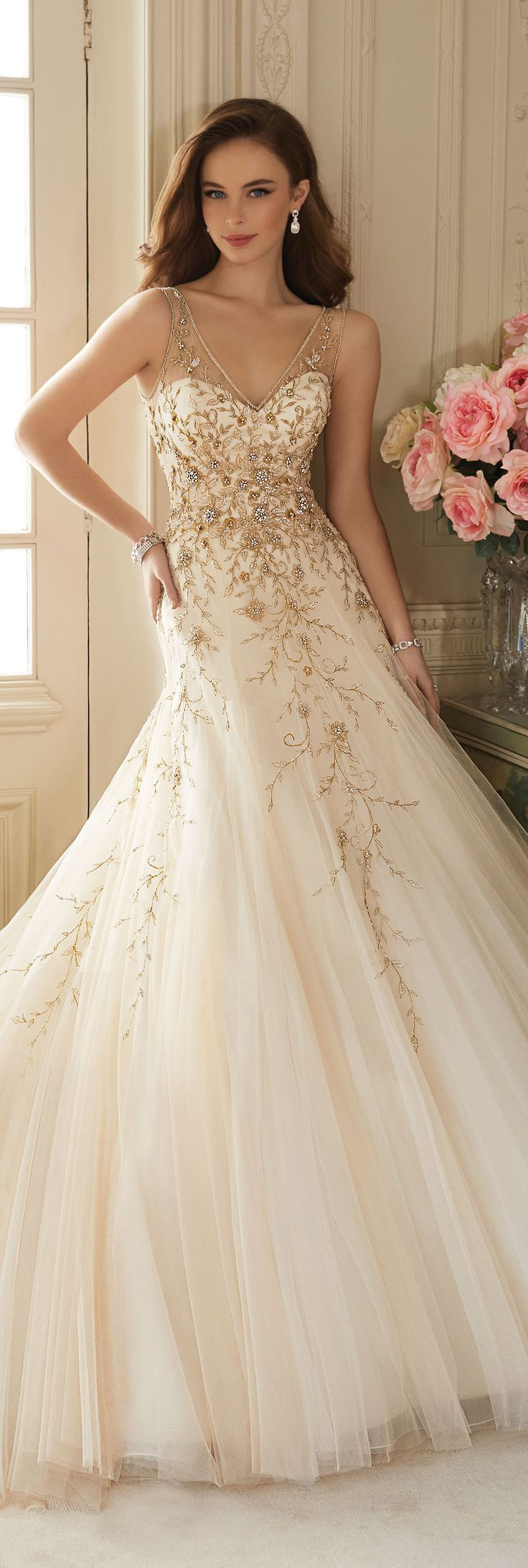 Wedding Dresses by Sophia Tolli - Spring 2016  Collection - Style No. Y11650 - Darice #tulleweddingdress