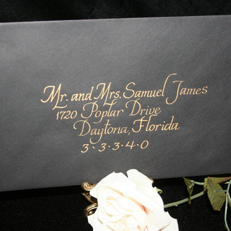 Calligraphy Wedding Envelope Addressing - Italics
