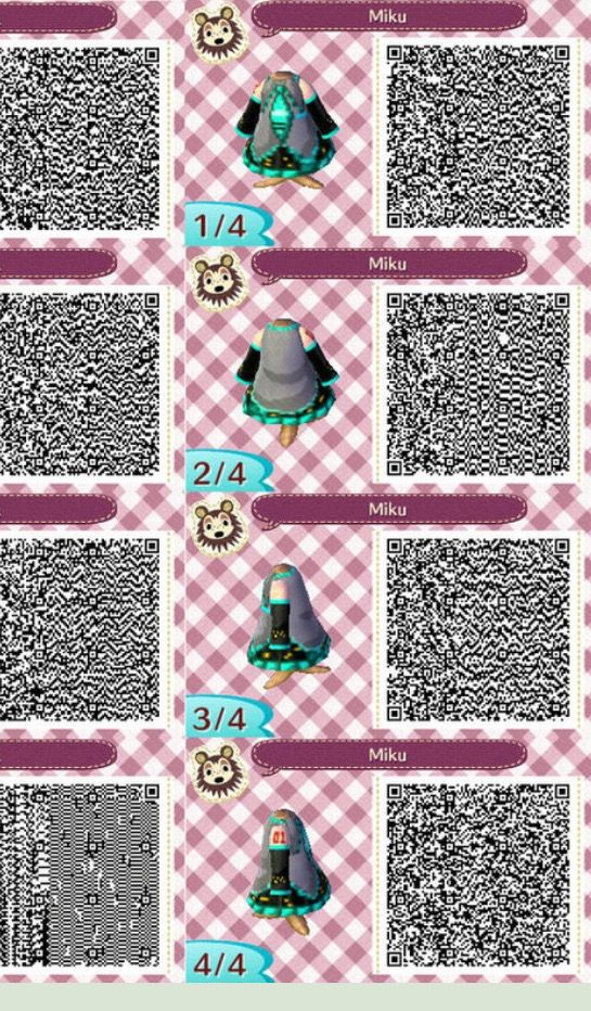Animal Crossing QR Code - Dress - Miku Hatsune