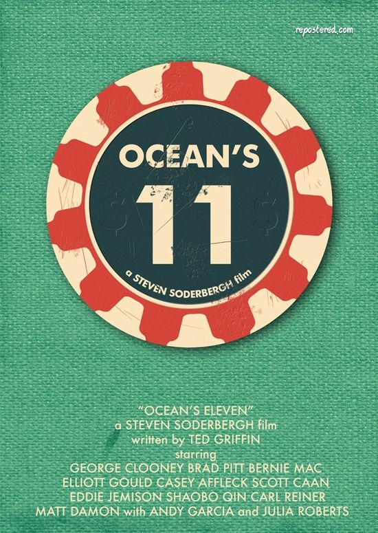 Minimalist Movie Poster: Ocean's 11