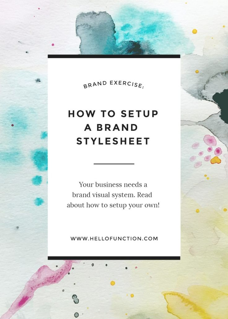 Branding is so much more than just a logo. Click the image to check out this guide to brand styling from Function Creative Co. Plus get access to a free brand clarity mini course inside! #branding #brand
