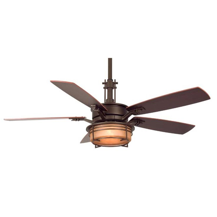 "54"" Craftsman Style Ceiling Fan The Craftsman Ceiling Fan features an elegant traditional masculine style with updated modern lines. Available in Oil-rubbed Bronze finish with Amber glass light kit or a Pewter finish with Opal glass light kit. Reversible richly-hued walnut/cherry finish wood blades included."