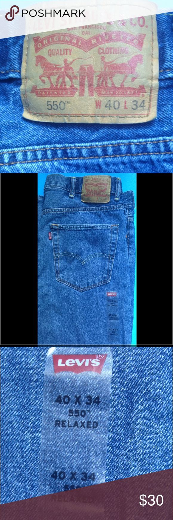 Men's Levi Jeans Men's Levi Jeans . 550. 40x34. Relaxed fit. New-Never worn Levi's Jeans Relaxed