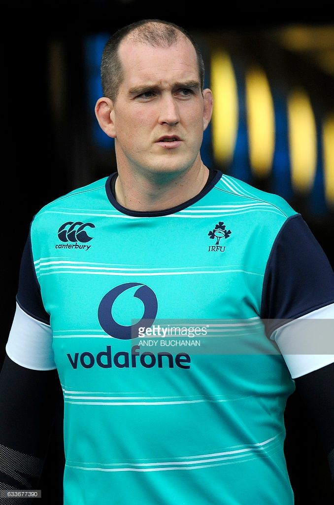 Ireland's lock Devin Toner attends the captain's run training session at Murrayfield Stadium in Edinburgh, on February 3, 2017, on the eve of the Six Nations rugby union match between Scotland and Ireland. / AFP PHOTO / Andy Buchanan