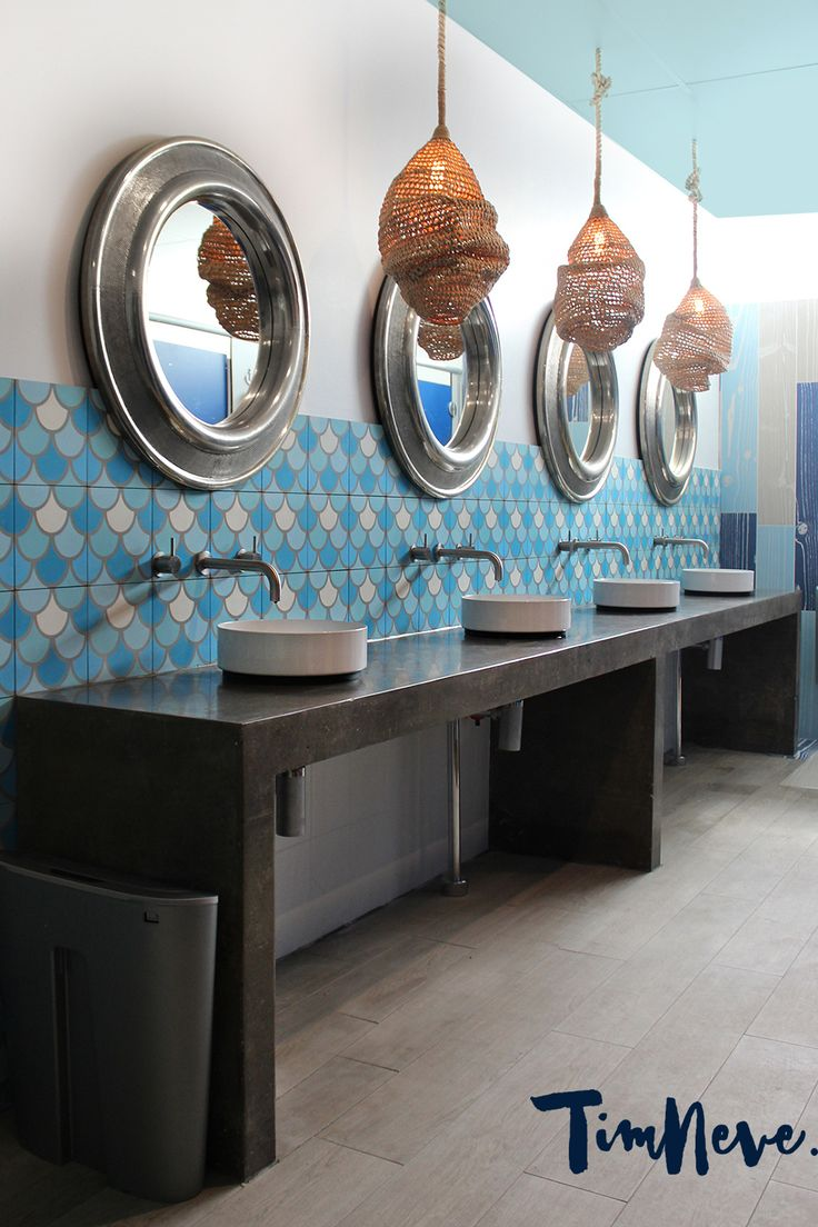 Stylist Tim Neve designed these nautical-inspired bathroom interiors for the Beaches Hotel, Newcastle - now open.