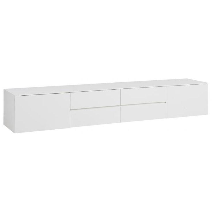 Tv-meubel Juhla breed 43x244x48 cm, 2 deur, 2 la, 2 klep