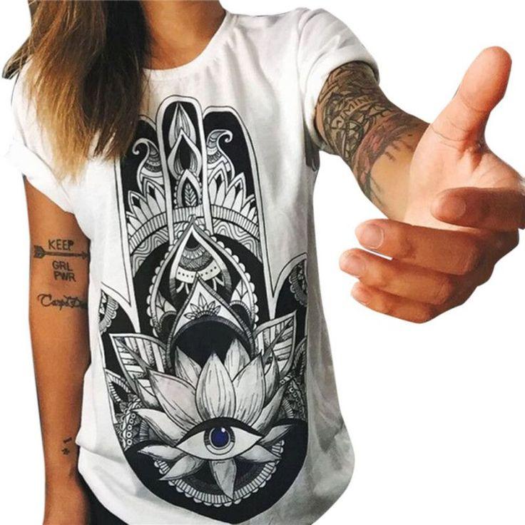 Women Cotton T- Shirt Short Sleeve Casual Loose Tops Fashion Summer T-shirt Stylish